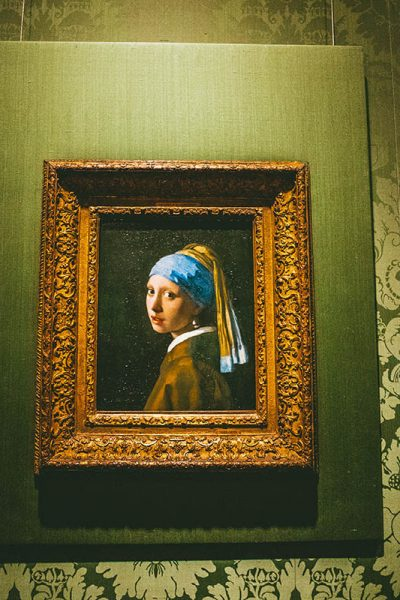 On a rainy day in the Hague, consider stepping in to see the Girl with the Pearl Earring at the Mauritshuis!