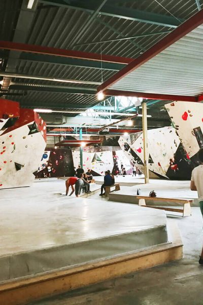 De Campus, one of the bouldering halls of the Hague, is one of the best places to climb in the Hague